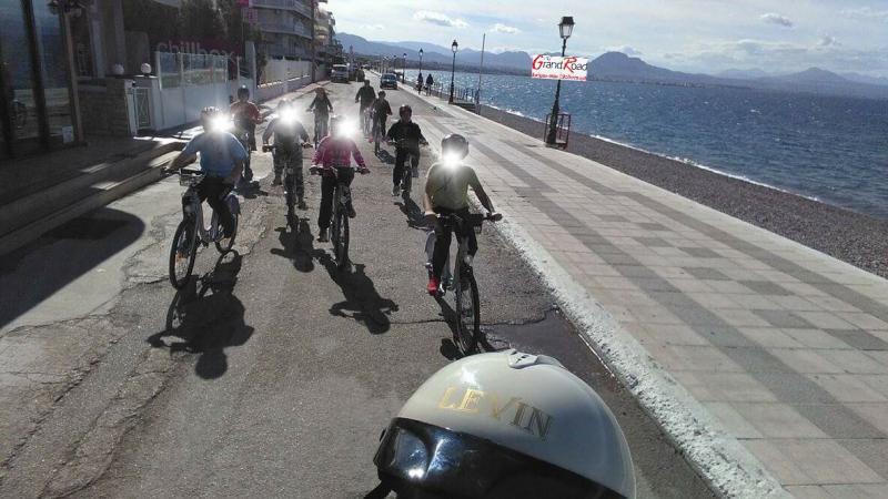 Βόλτα με ποδήλατα στους δρόμους του Δήμου Λουτρακίόύ